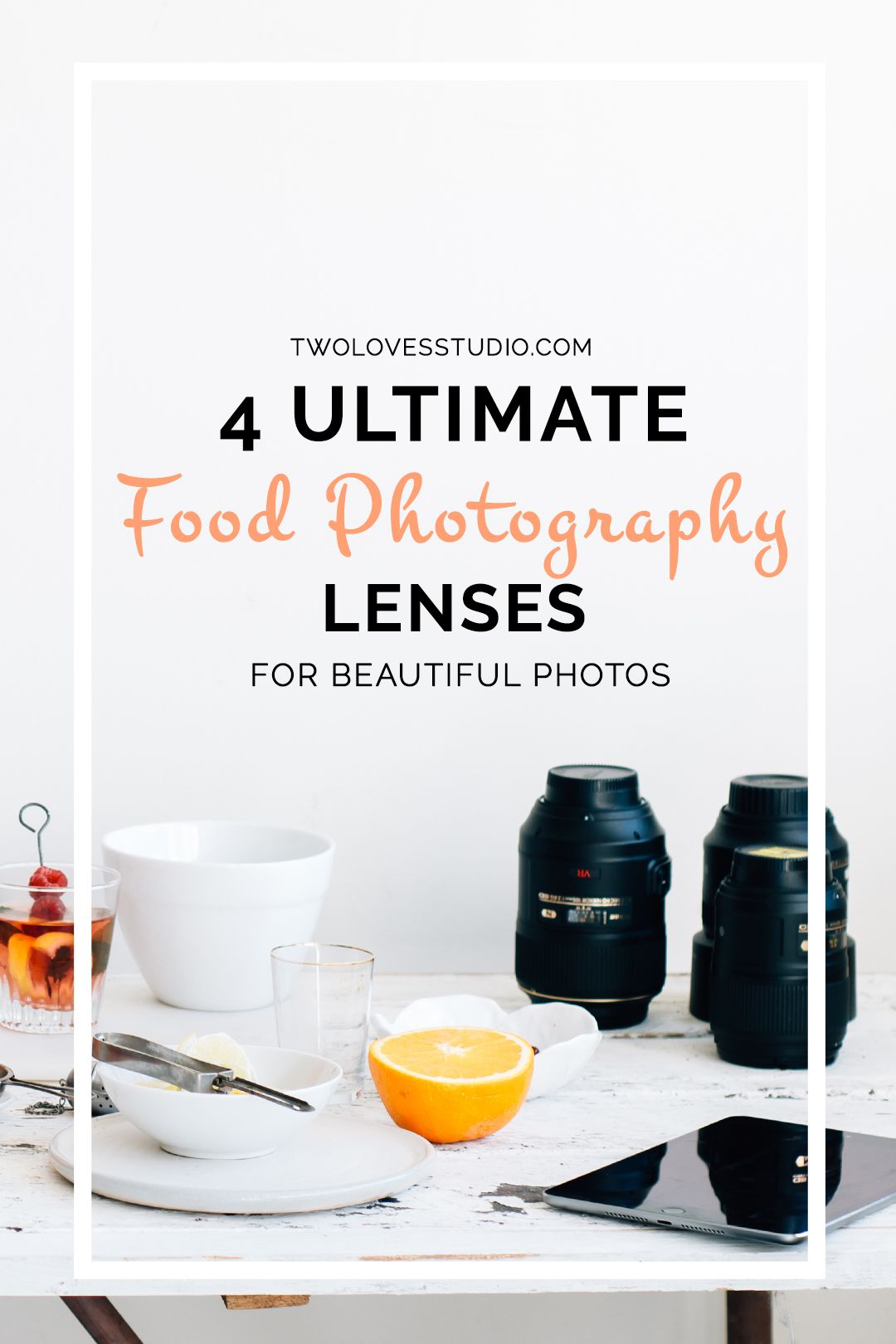 4 Ultimate Food Photography Lenses For Beautiful Photos   From beginner to pro, budget to expensive. Here are the 4 food photography lenses that you need to know to capture stunning images of food. Nikon, Canon and Tamron. This post will have you covered. Click to read.