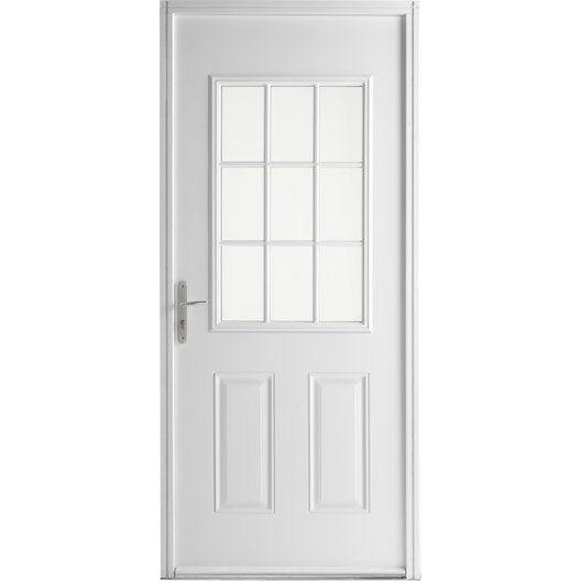 Porte D Entree Acier Emilia Primo Poussant Droit H 215 X L 90 Cm Buanderie Porte D Entree Acier Porte Entree Maison Et Porte Maison