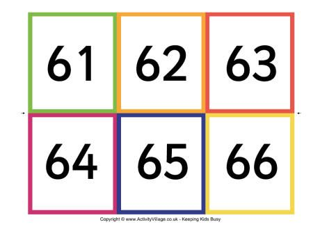 picture regarding Free Large Printable Numbers 1 100 called Variety flash playing cards, 61 - 90 initiatives Printable quantities
