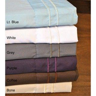 Overstock.com  Fashion Street Microfiber Embroidered 4-piece Sheet Set  Item #: 13749863  $36.63