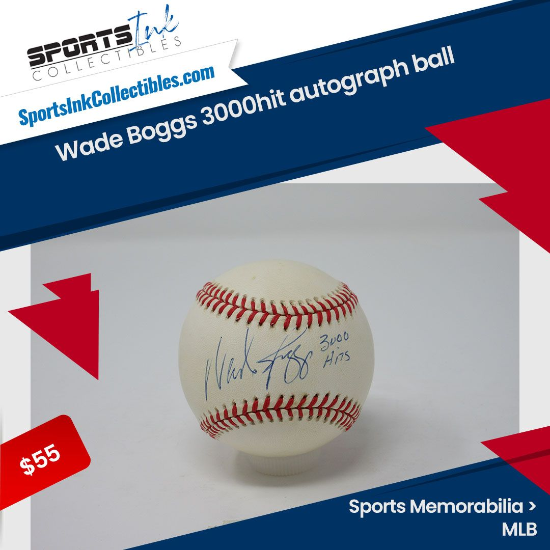 Wade Boggs 3000hit autograph ball Sports card box