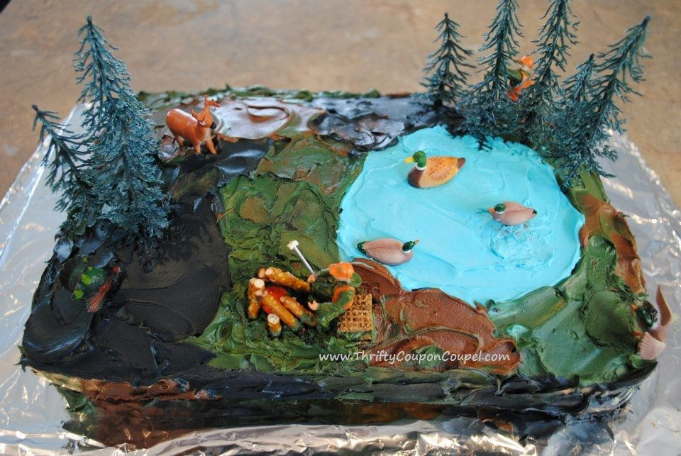 Cake Decorating Ideas Outdoors : Camouflage hunting fishing outdoors birthday cake! What a ...