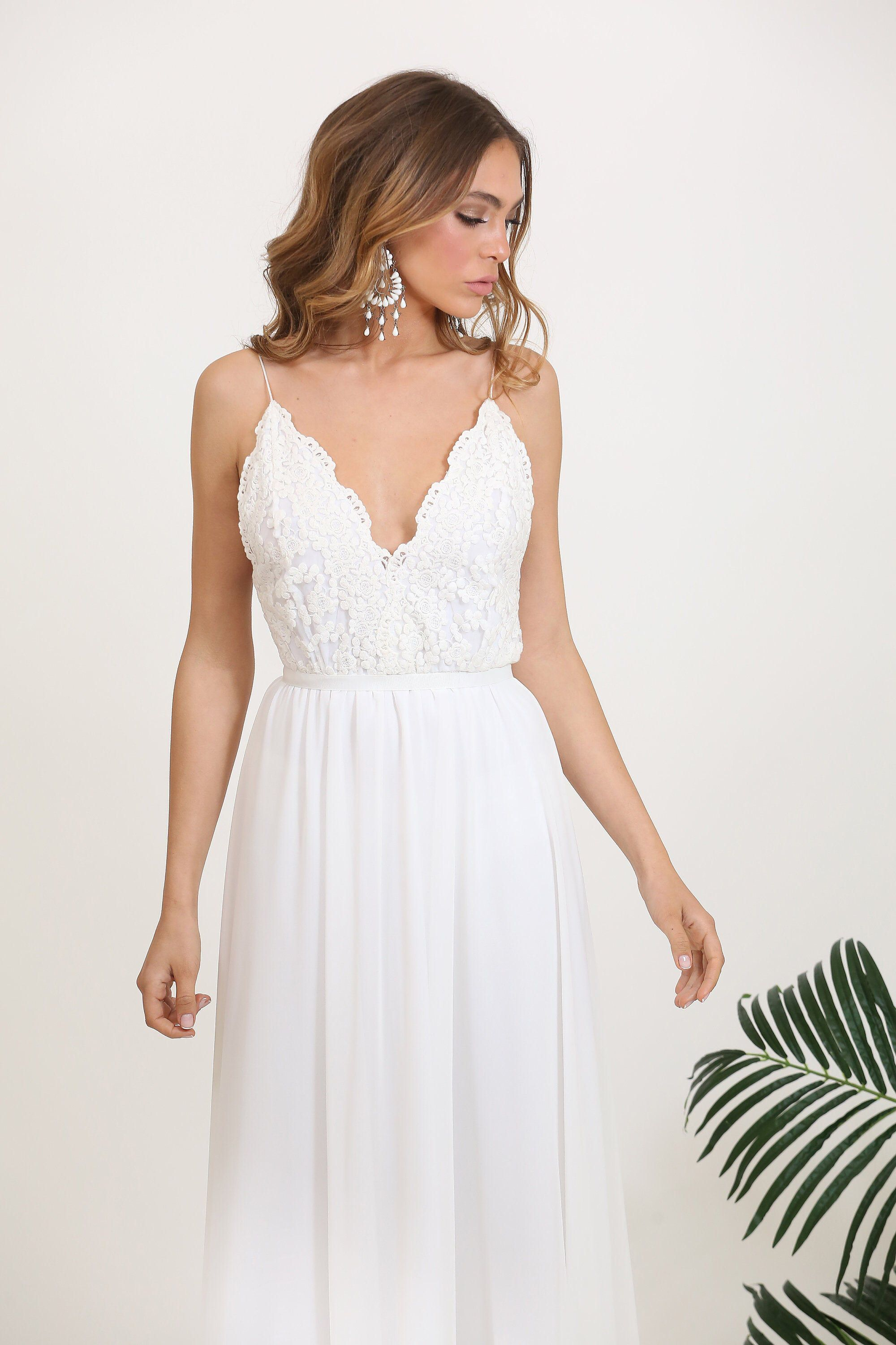 Wedding dress Lace top wedding gown Casual Fitted wedding