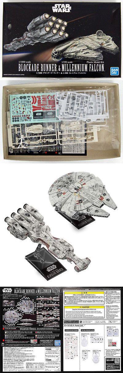 Star Wars 1//1000 Blockade runner /& 1//350 Millennium Falcon plastic model Japan