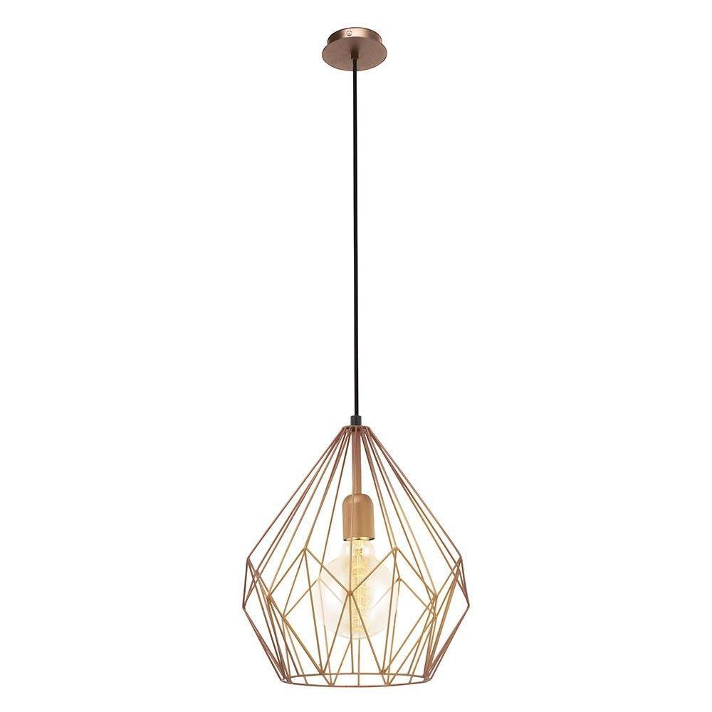 Vintage Hängeleuchte Ø 31 Cm 1 Flammig Stahl Kupferfarben Lt Hängeleuchte Beleuchtung Decke Lampen Und Leuchten