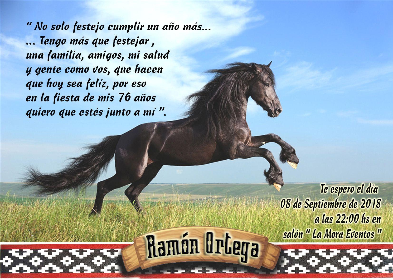 Tarjeta Invitacion Para Hombre Caballo En 2020 Fiesta