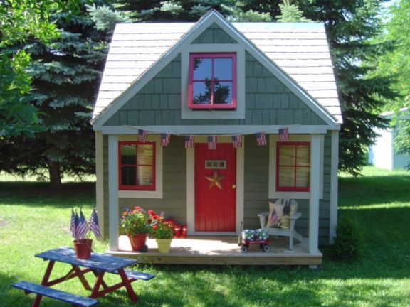 Rabbit playhouse plans pinteres for Kids playhouse shed