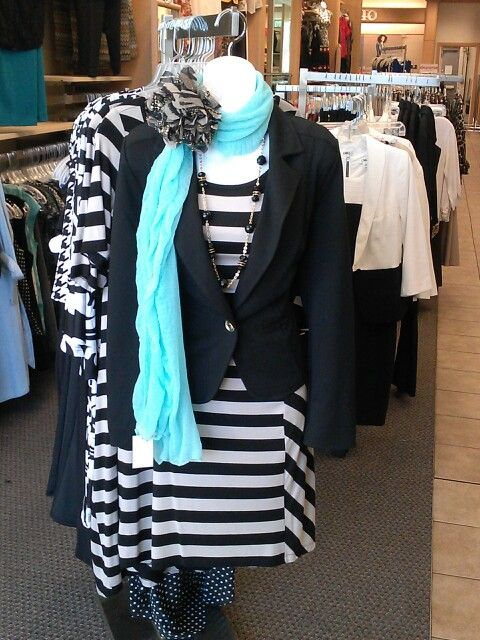 0e55432ec96d4 Cute dress with a pop of color  ) cato fashions  fall  fashions  dressy   scarf  trends  stripes