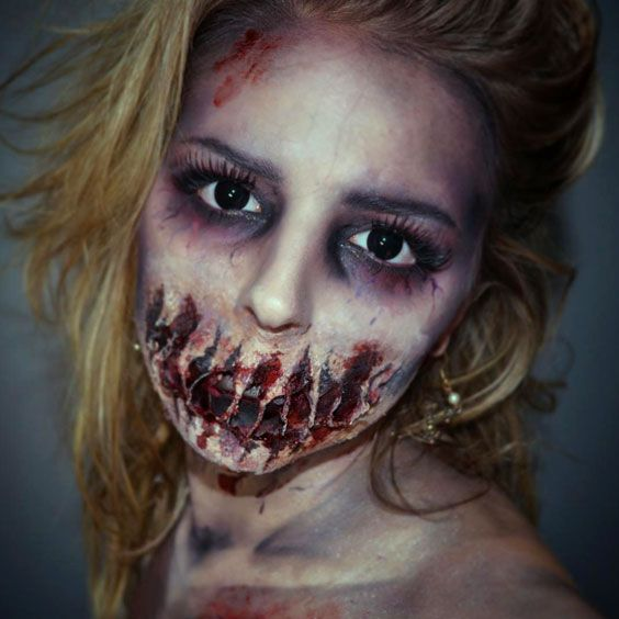21 Halloween Makeup Looks To Blow The Mind Zombie makeup, Makeup - zombie halloween ideas