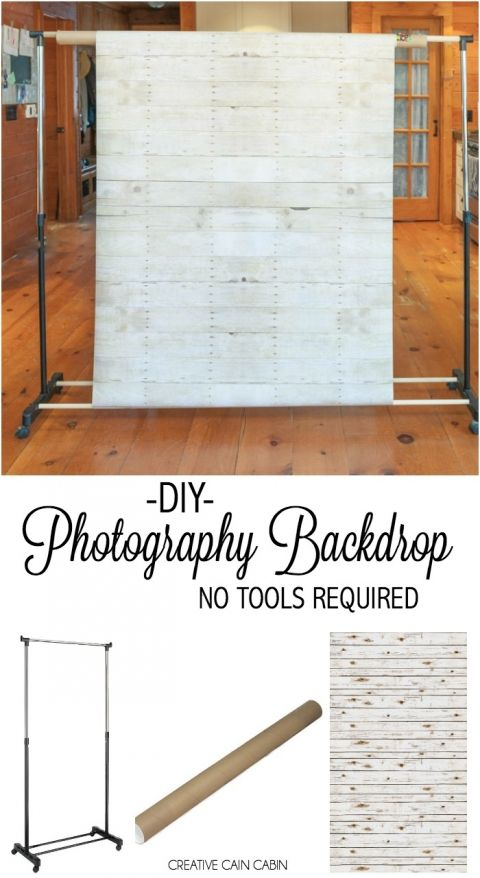 Diy Photography Backdrop Stand No Tools Required Creative Cain Cabin Photography Backdrops Diy Diy Photo Backdrop Diy Photography