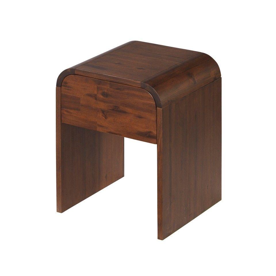 Nachttisch Woodville Akazie Geburstet Nachttisch Holzbetten Und