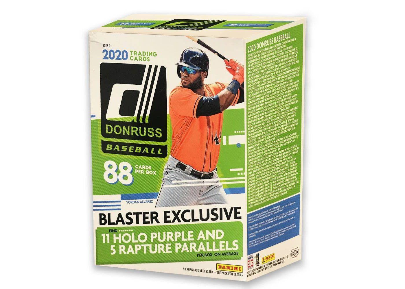 MLB 2020 Donruss Baseball Trading Card Blaster Box