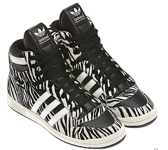 sports shoes b1bb8 79827 Adidas decade High Tops Tennis Shoes for Women  ADIDAS Decade OG Zebra  Suede