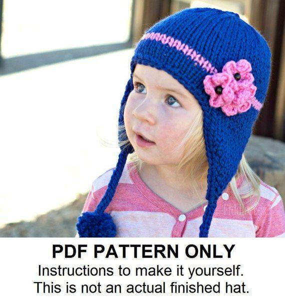 Knitting Pattern - Earflap Hat Pattern - the KIMBERLY Cap ...