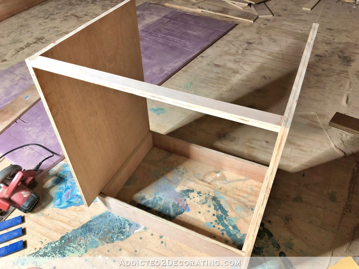 How I Built My Lower Base Cabinets And Drawers In The Pantry | Diy cabinet doors, Base cabinets ...