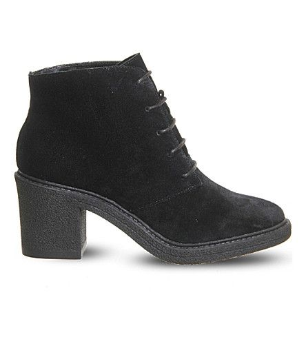 Office Lulu Lace Up Suede Ankle Boots