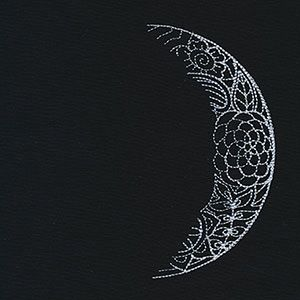 Luna Waxing Crescent Moon Urban Threads Unique And Awesome