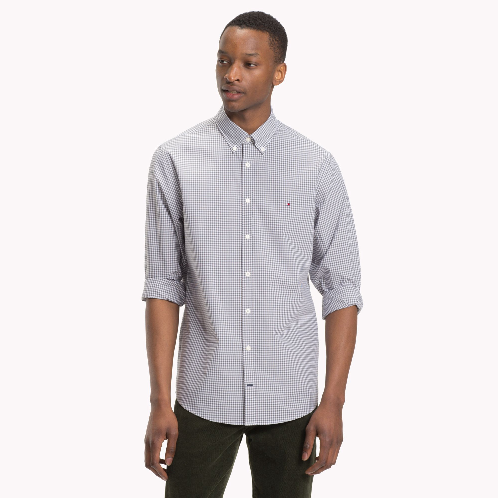 0fab4527 Tommy Hilfiger Cotton Poplin Gingham Shirt - Eiffel Tower / Bright White Xxl