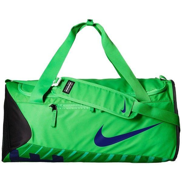 509c5f1c6d2c Nike New Duffel Medium (Green Spark Black Deep Royal Blue) Duffel Bags ( 45)  ❤ liked on Polyvore featuring bags