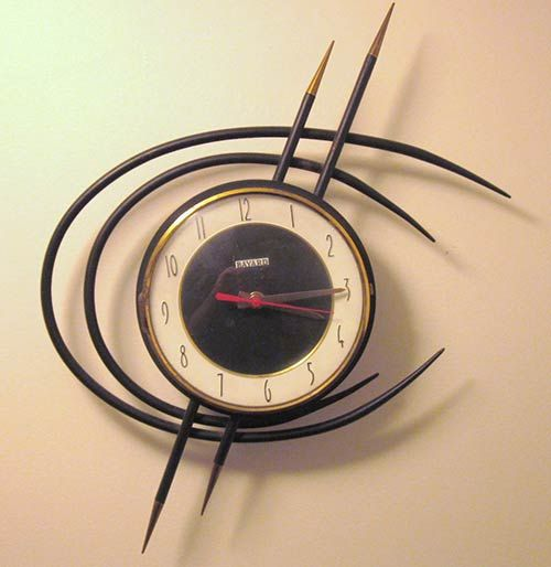 27 Awesome Midcentury Vintage Wall Clocks 331 In Our Uploader Mid Century Clock Vintage Wall Clock Mid Century Modern Clocks