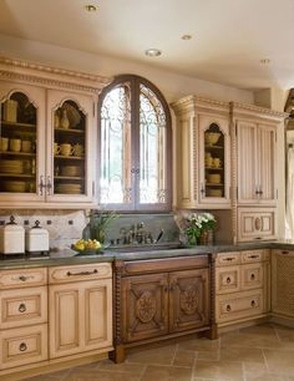 45 Cool French Country Kitchen Decorating Ideas #countrykitchens