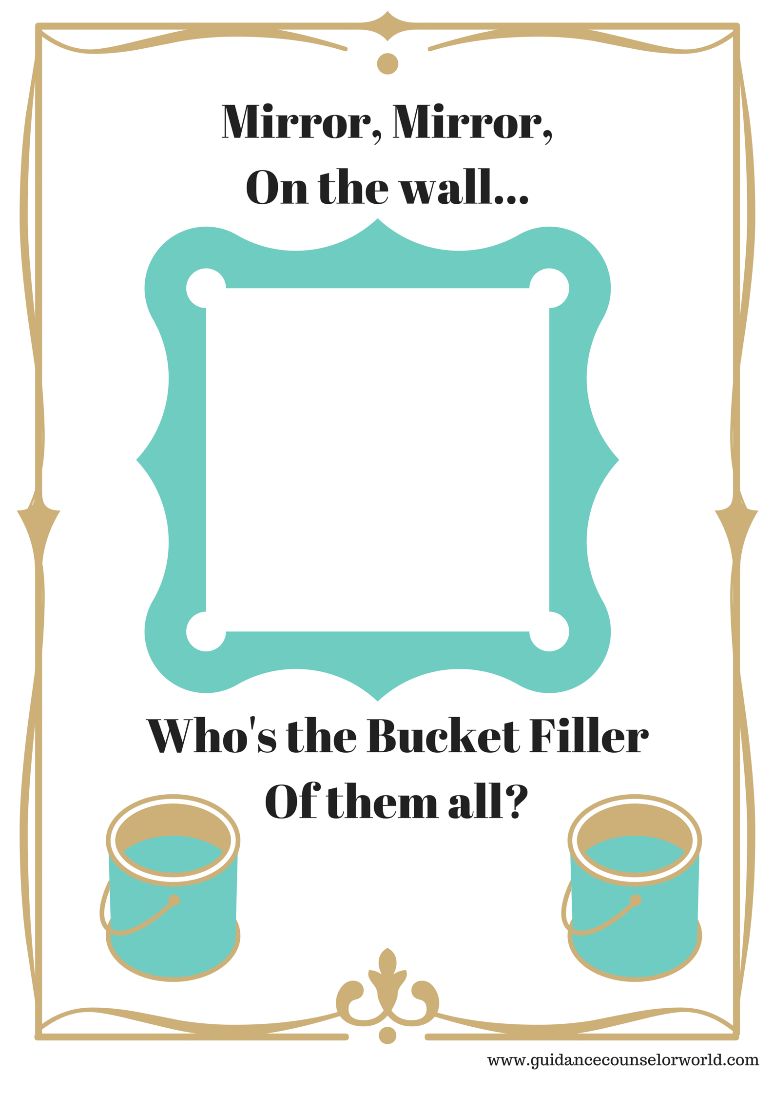 Classroom Guidance Lesson On Encouraging Students To Be A Bucket Filler To Other Students
