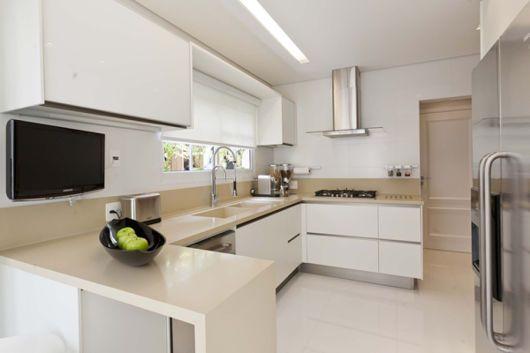 bancada de cozinha em u clara cozinha nova decoração cozinha
