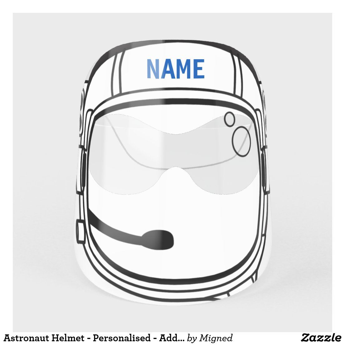 Astronaut helmet personalised add your name face