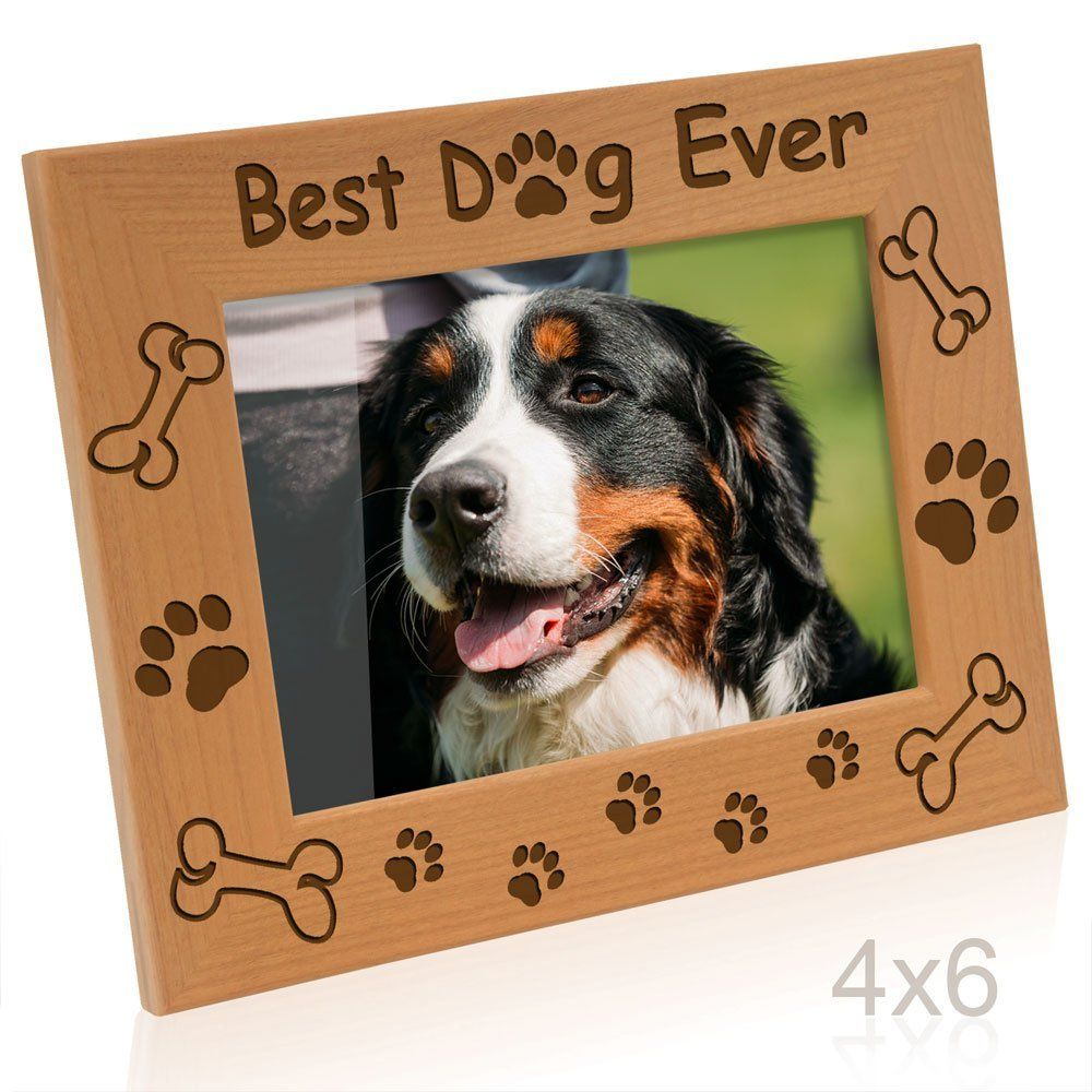 Kate Posh Best Dog Ever Dog Paws And Bones Engraved Picture