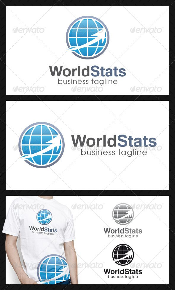 World Stats Logo Template — Vector EPS #growth #statistics • Available here → https://graphicriver.net/item/world-stats-logo-template/4507235?ref=pxcr