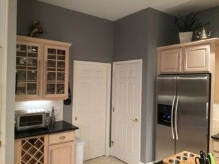 I Have Pickled Oak Cabinets And Want To Paint My Walls Gray (light Grey  Preferably