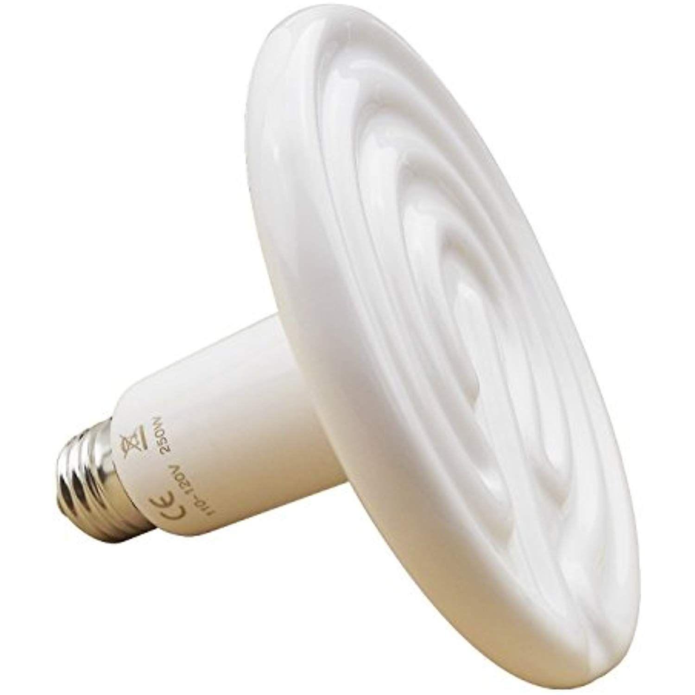 Aiicioo 250 Watt 110 Volt Ceramic Heat Emitter For Reptiles Or Amphibians White For More