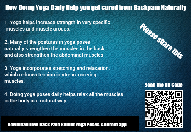 Doing Yoga Daily can cure your Back Pain - Four reasons if you do yoga daily it can cure your back pain naturally, please read and if you feel it is useful please share this infographic.