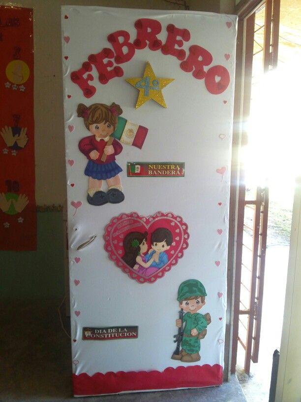 Puerta de febrero puertas puertas decoradas puertas y for Puertas decoradas del 14 de febrero