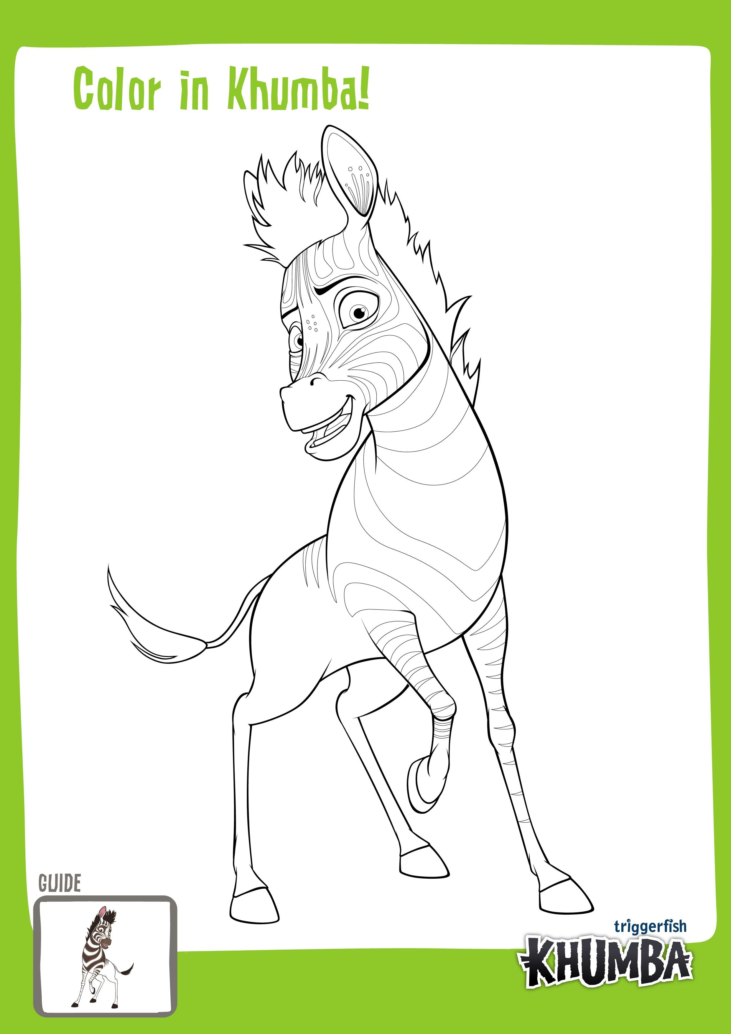 Hey Why Not Color In Khumba You Can Download And Print From Our Website From The Kidzone Section Www Khumbamovie C Games For Kids Fun Activities Activities