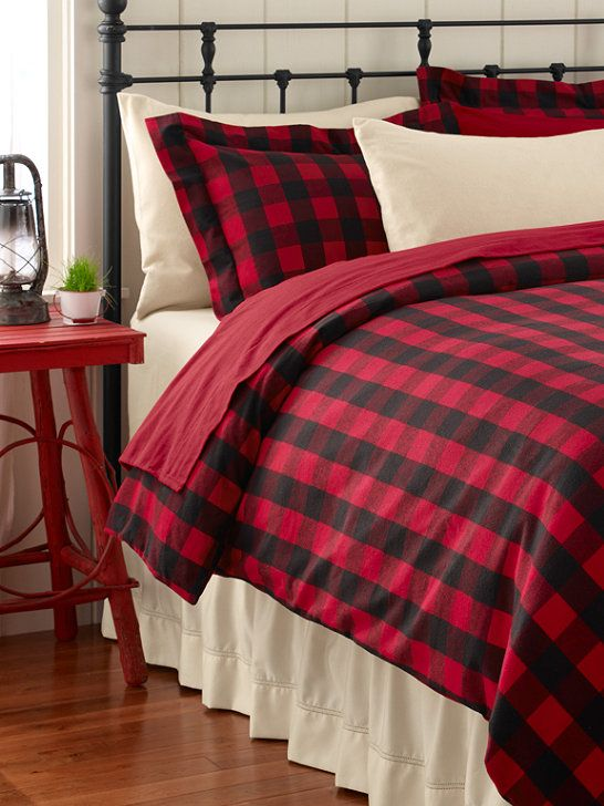 Image result for red and black plaid bedspread