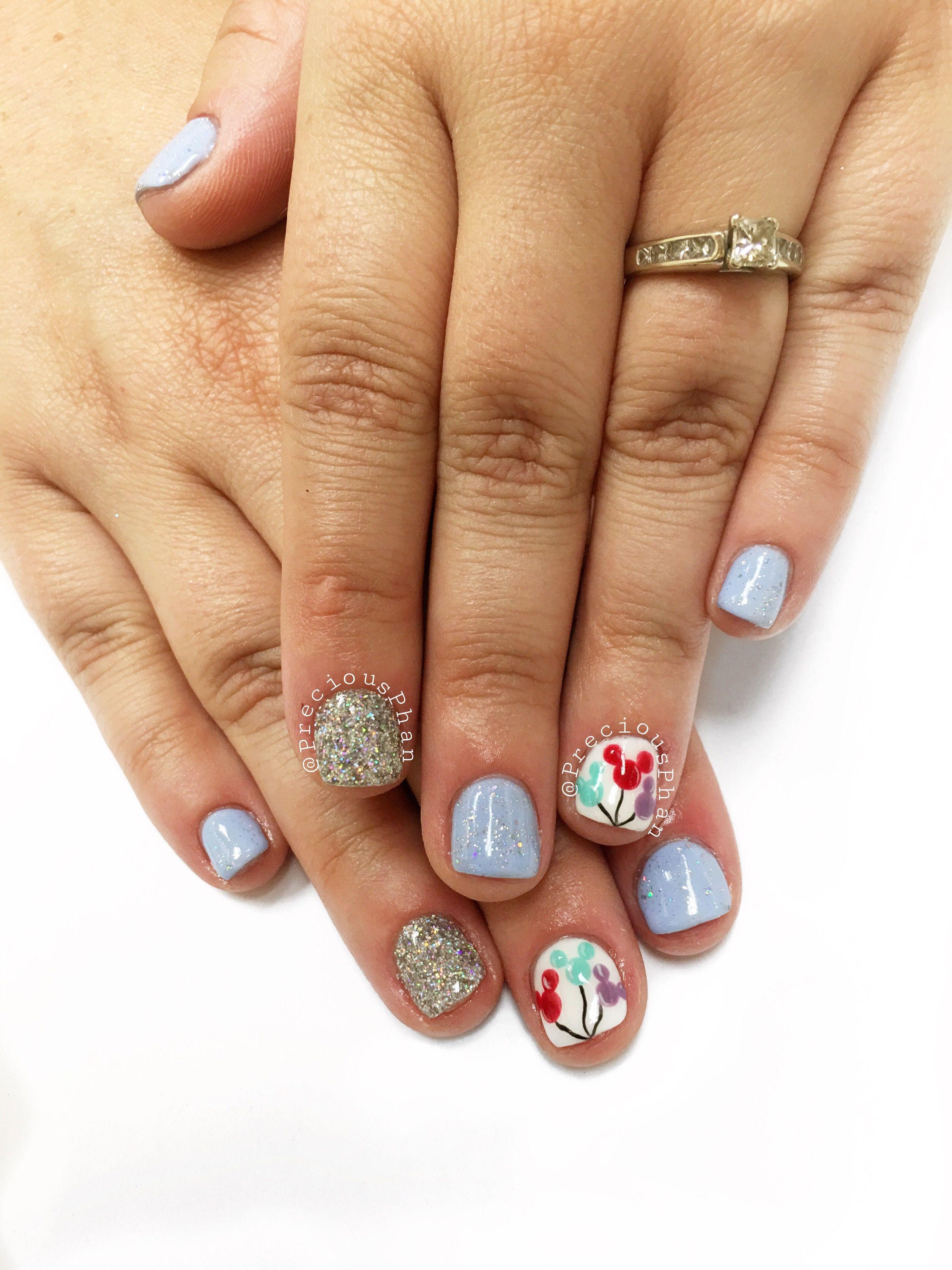 Disneyland Nails Mickey Mouse Nails Balloon Nails Preciousphan