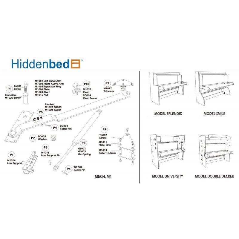 hidden bed plans