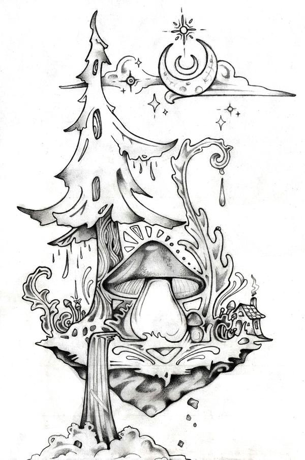 Wildwood Island By Lauraborealisis On Deviantart In 2020 Trippy Drawings Art Drawings Sketches Art Sketches