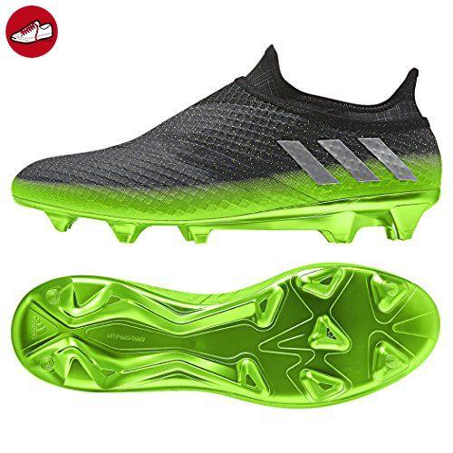 reputable site 0d82a f1547 adidas Messi 16+ Pureagility FG Techfit Socke Space Dust grün grau, Größe 42