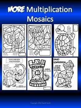 more multiplication mosaics fun fact practice pages multiplication multiplication facts and. Black Bedroom Furniture Sets. Home Design Ideas