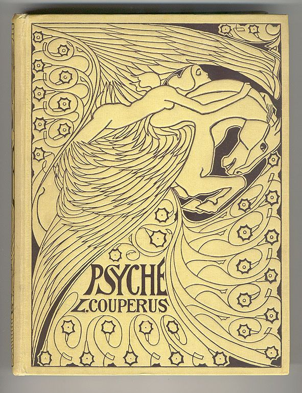 Book Cover Typografie : Psyche louis couperus bandontwerp jan toorop