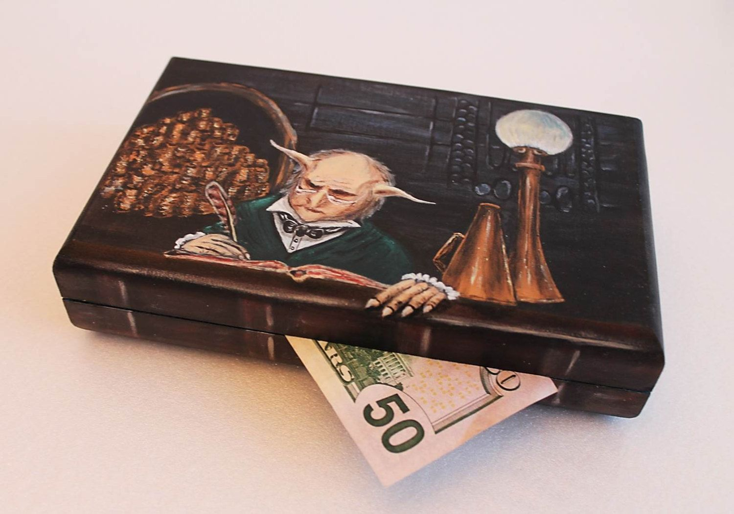 Custom Order Harry Potter Sorcerers Stone Hand Painted Wooden Etsy Box