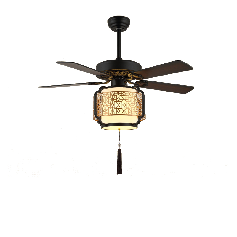Modern Retro Ceiling Fan With Light And Remote Control Chandelier