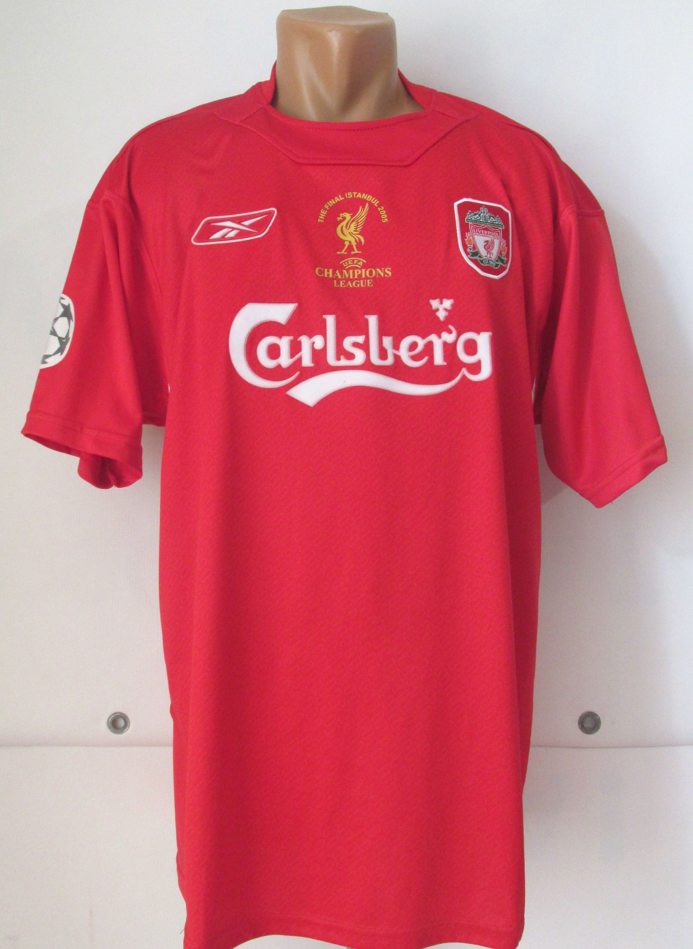 246402bea35 Liverpool 2005 special Champions League football shirt Louis Garcia  10 by  Reebok replica LFC Winners CL Istanbul final jersey soccer  liverpool  lfc  ...