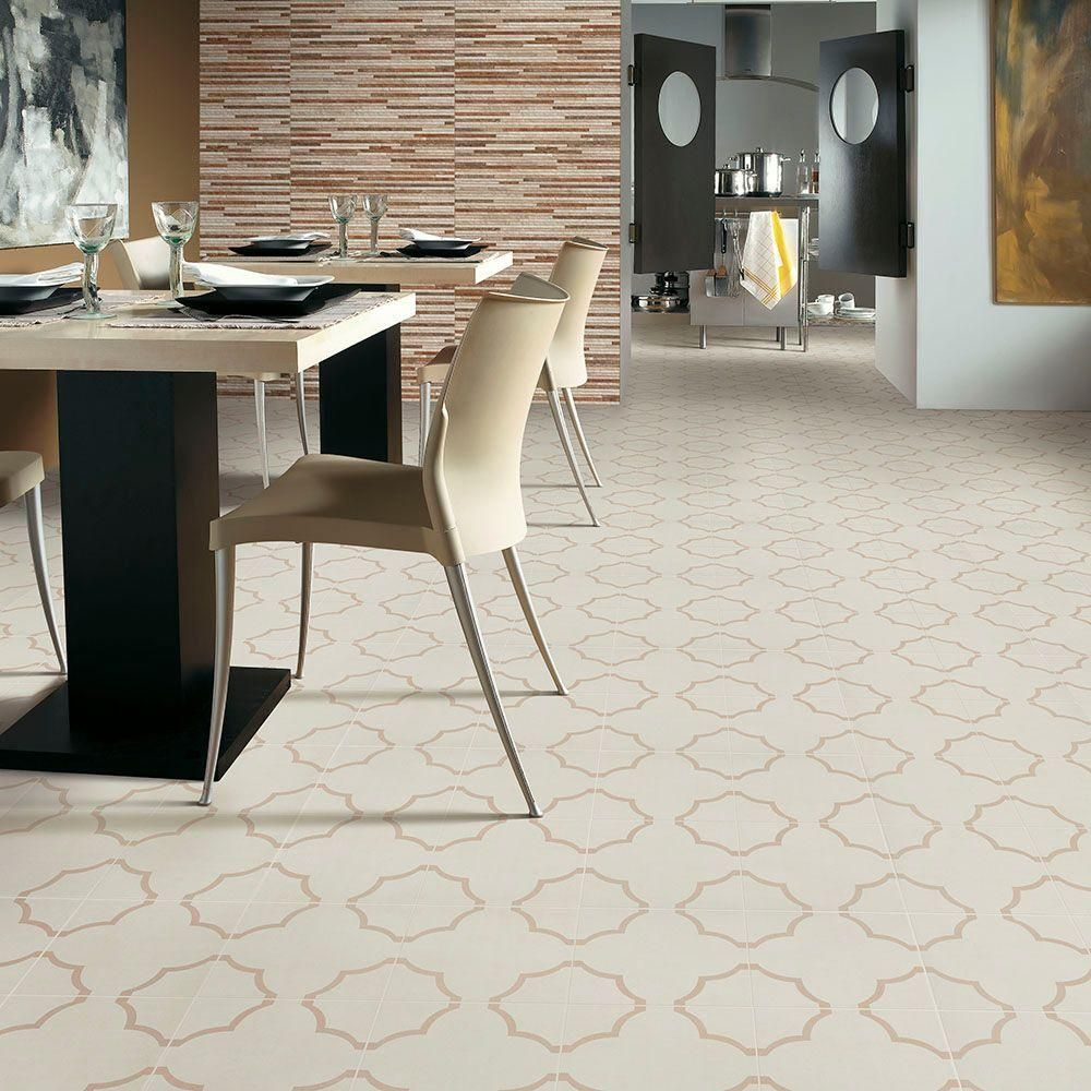 Merola Tile Nuvola Fondant 17-5/8 in. x 17-5/8 in. Ceramic Floor and Wall Tile (11.1 sq. ft. / case)-FPENUVF - The Home Depot