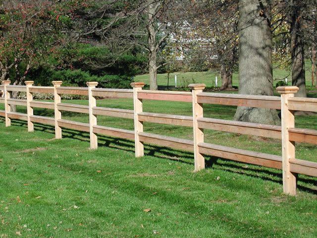 Wood fence rail styles … pinteres…