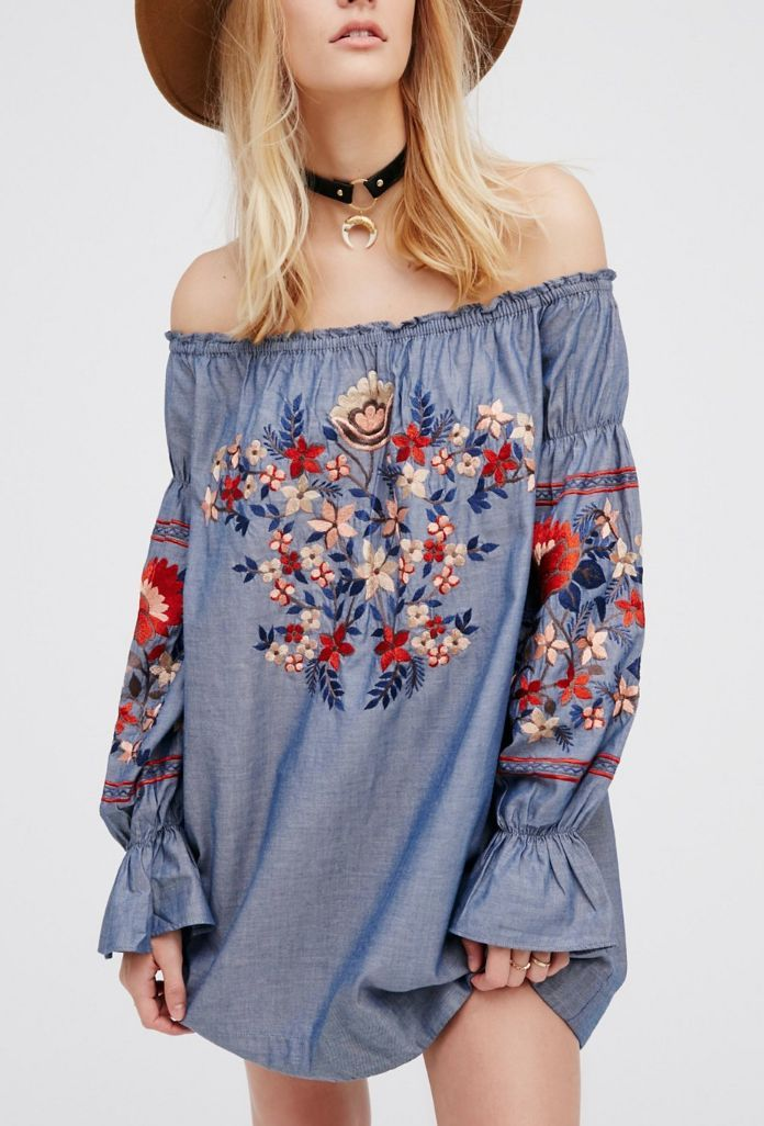 Cheap jeans shirt, Buy Quality woman tops floral directly from China blouse  jeans Suppliers: New Arrival Fashion Off Shoulder Women Tops Floral  Embroidery ...