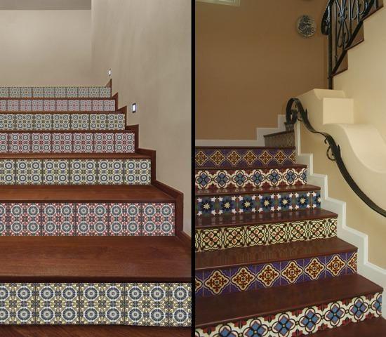 Ceramic Tiles Carpet Stairs Stairs Indoor Tile | Carpet Squares For Steps | Kajaria Staircase | Stair Runner | Dean Wrap Around Treads | Communal Stairway | Flower Design