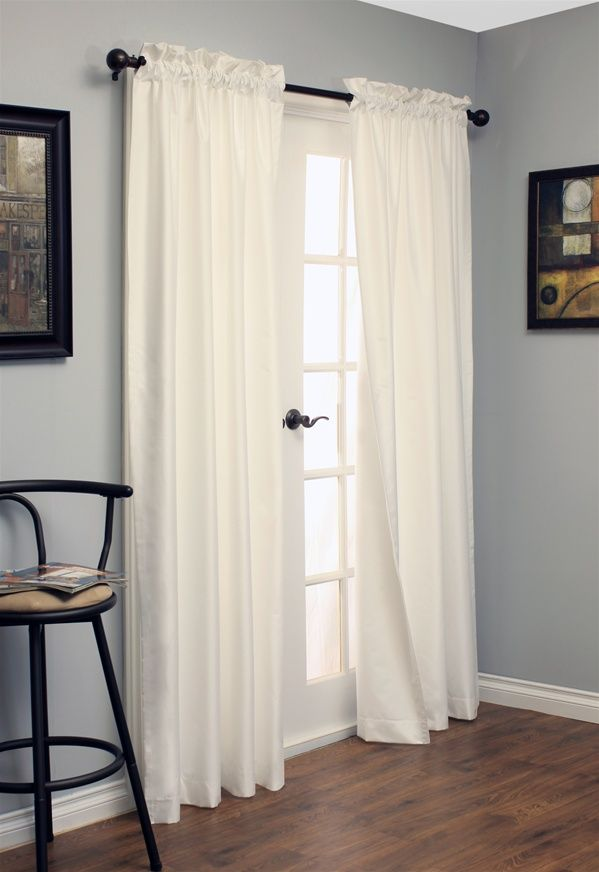 insulated blackout curtains in white - $60 for two cheapest ones i